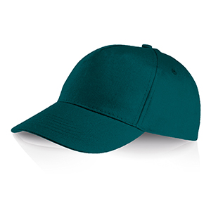 Cappellino 5 pannelli Ocean Breeze by Legby - PERRY D15571 - Verde Scuro